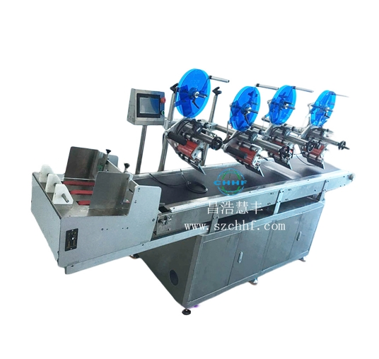 Four head labeling machine
