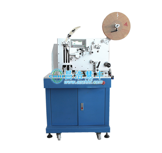 Wire folding label machine